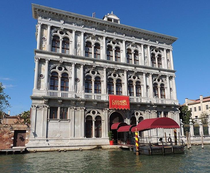 Casino di Venezia in Venedig Eingang am Kanal
