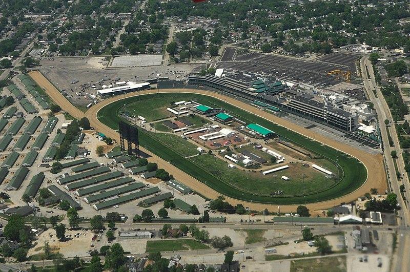 Churchill Downs Racecourse Ansicht von oben