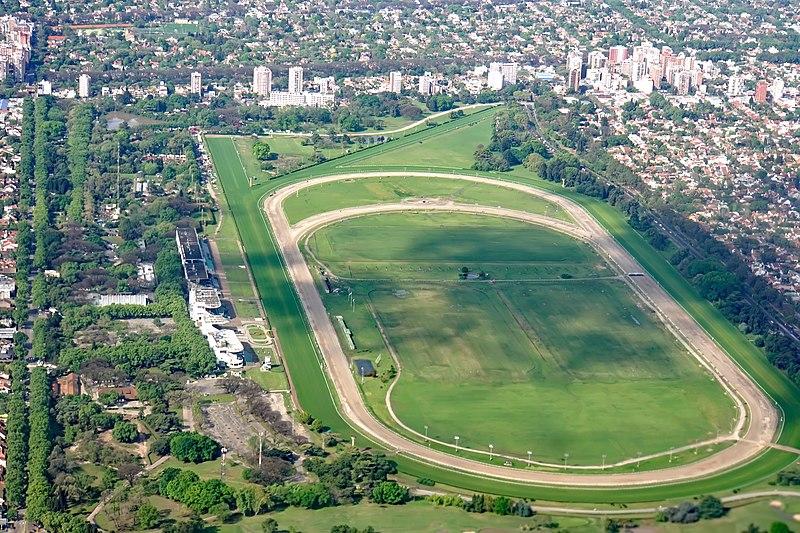 Rennbahn San Isidro in Buenos Aires Ansicht von oben