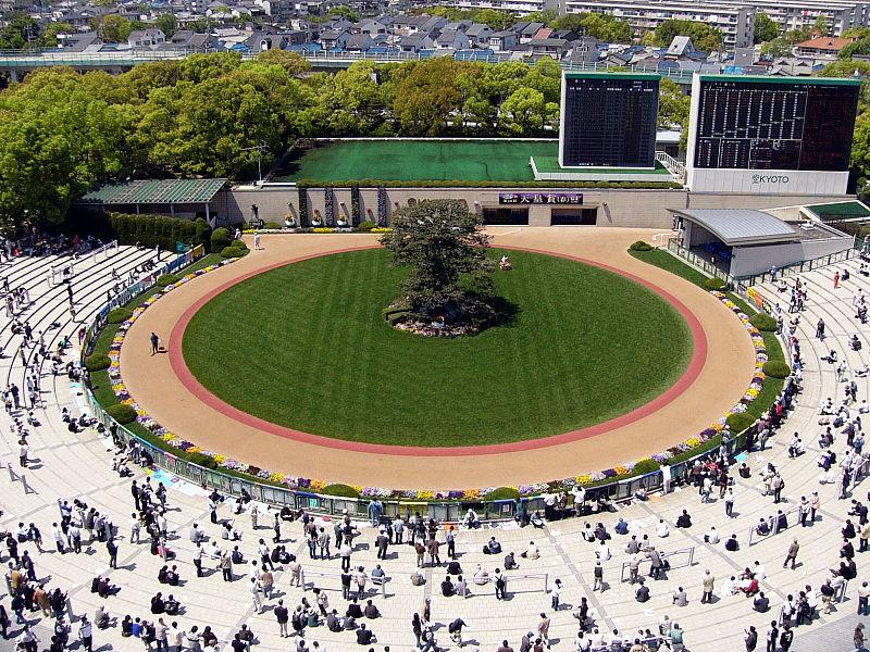 Kyoto Pferderennbahn Ansicht von oben