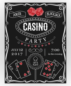 Einladung private Casino Party Inspiration