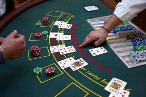 Blackjack Spieltisch Kartenspiel