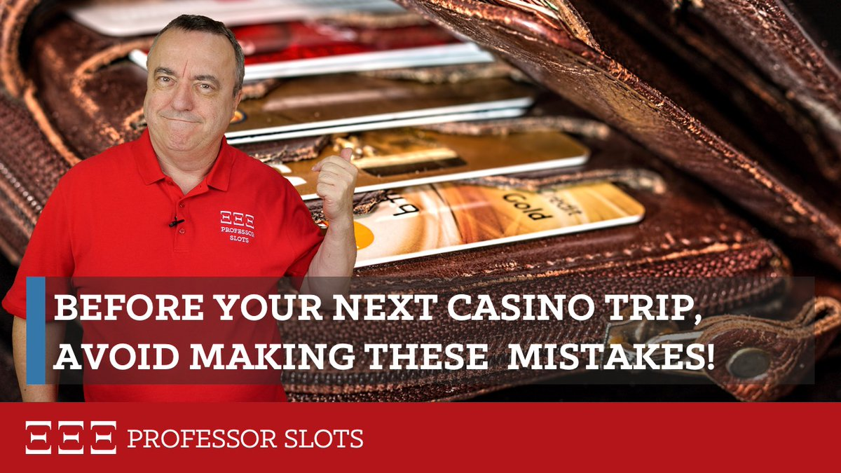 """Professor Slots Podcast Titelbild Folge """"Before your next casino trip, avoid making these mistakes"""""""