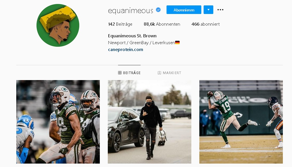Equanimeous St. Brown Instagram Profil