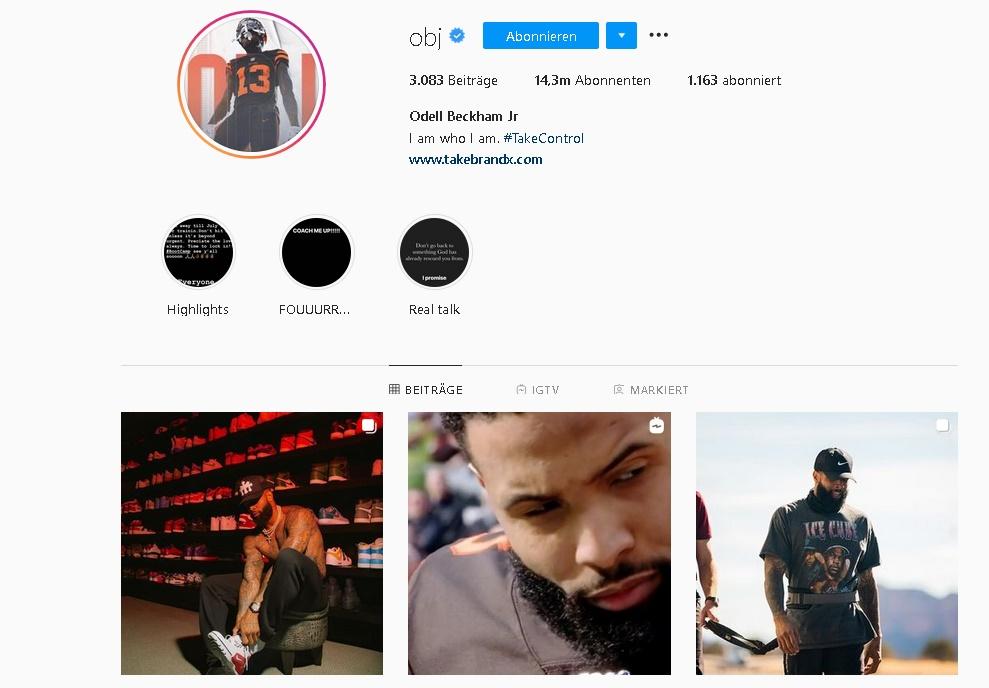 Instagram Profil Odell Beckham Jr @obj