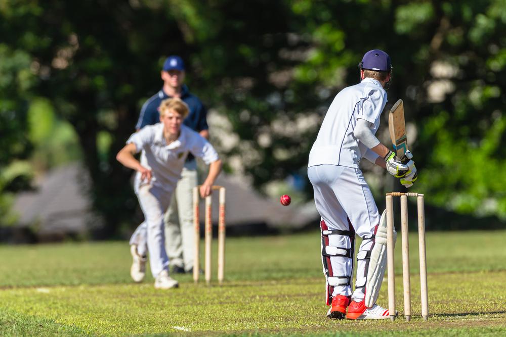 Cricket Spieler im Spiel