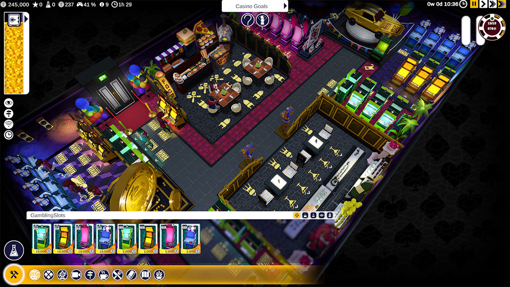 Screenshot des Aufbauspiels Grand Casino Tycoon