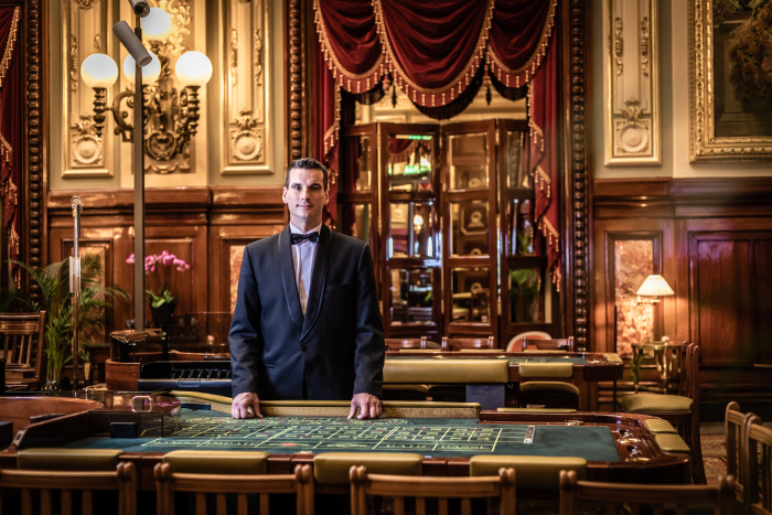 Casino de Monte-Carlo: Roulette-Tisch im Salon Touzet