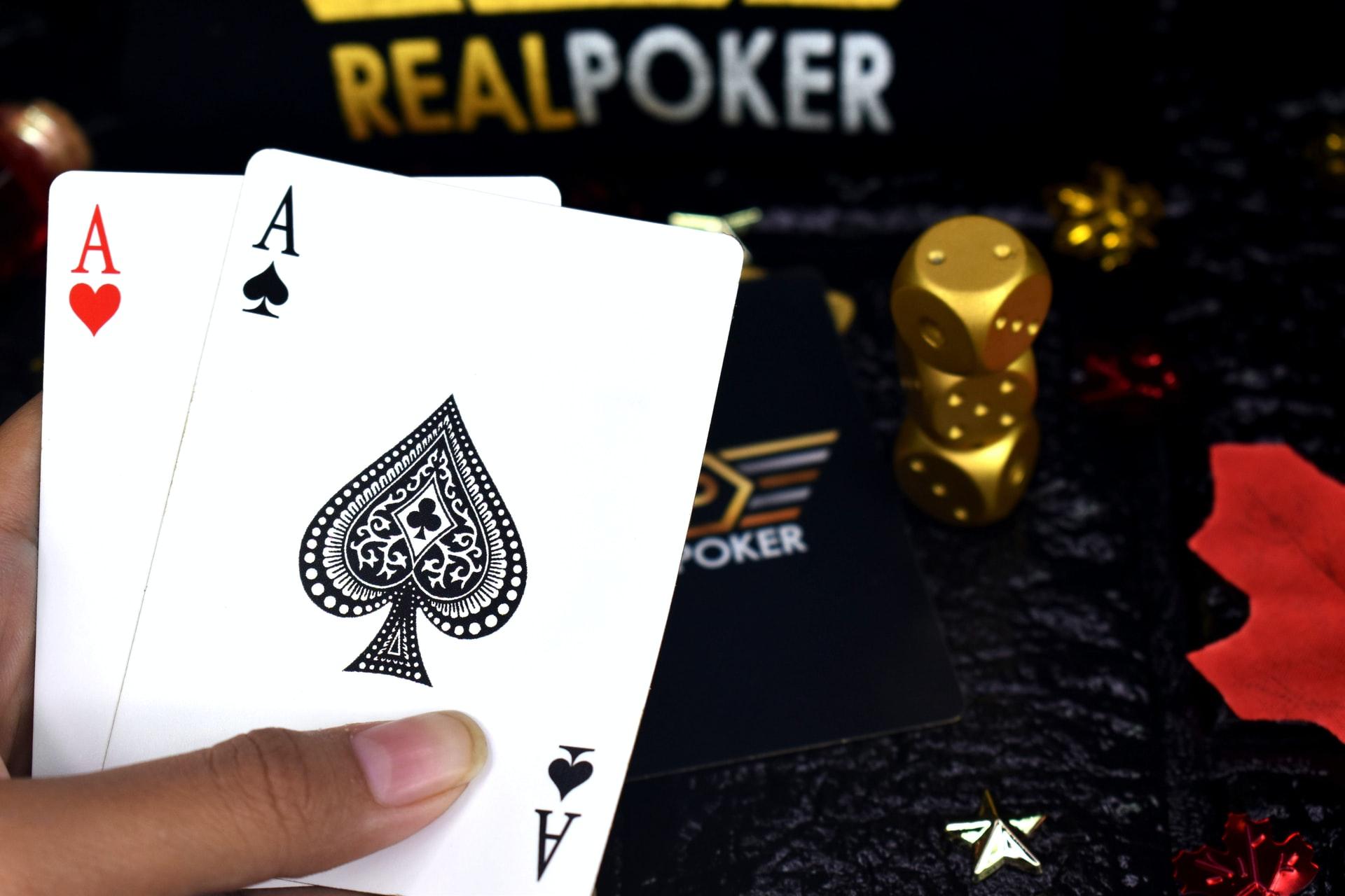 Poker Spielkarten mit großem Index