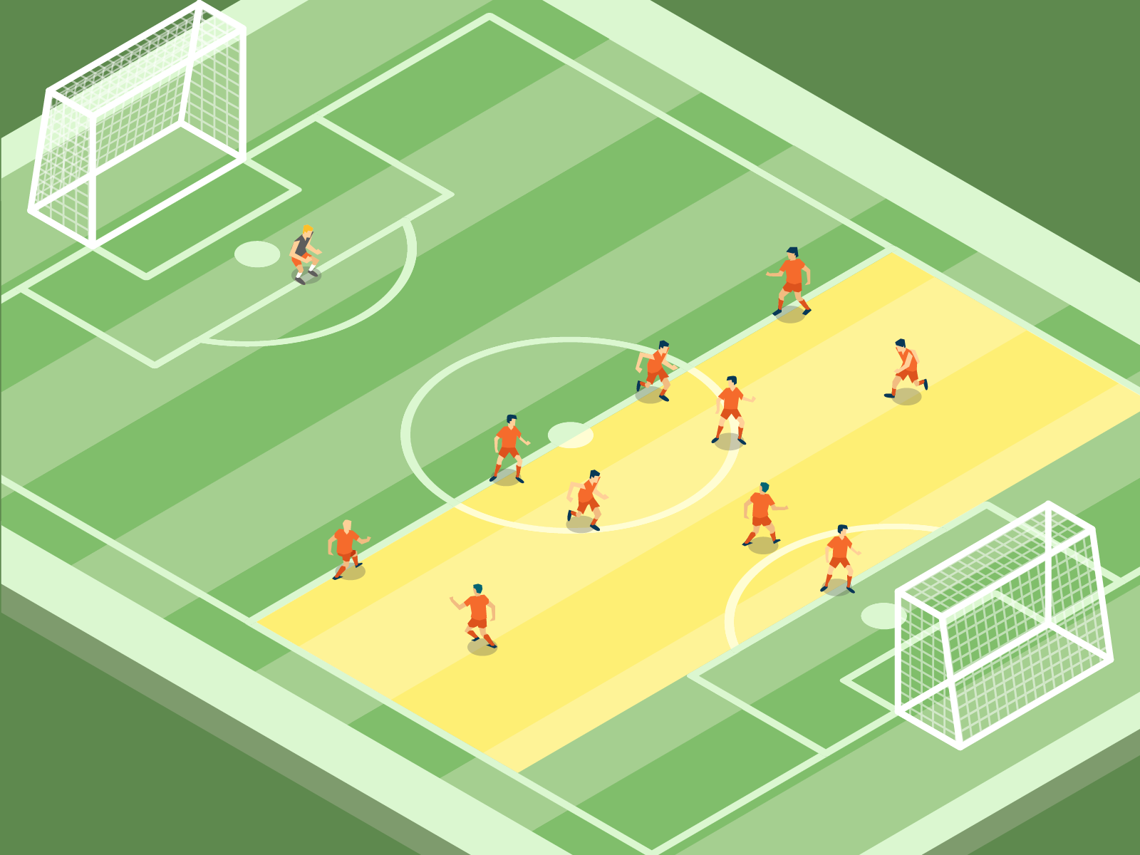 Pressing im Fußball: Defensivpressing