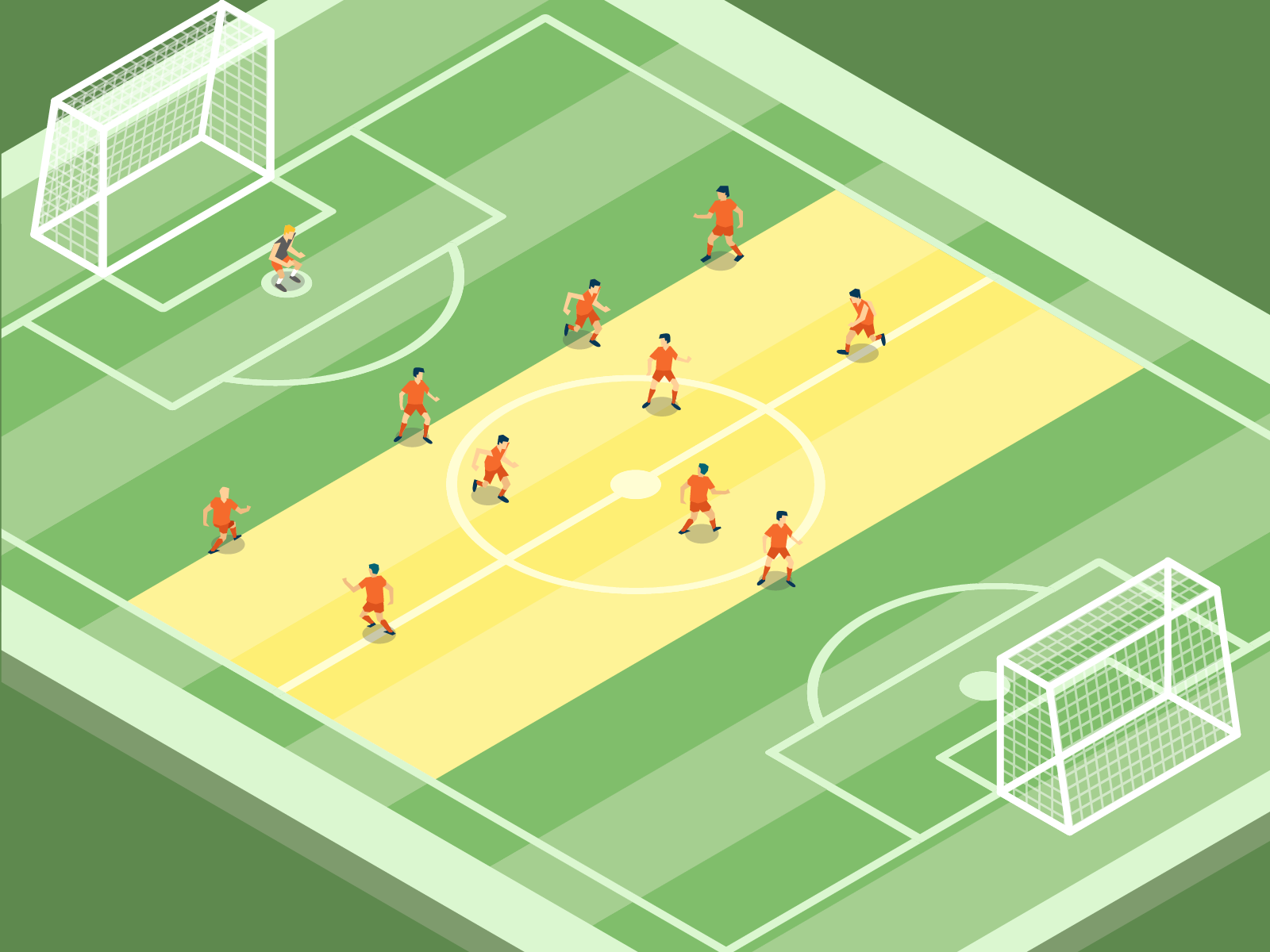 Pressing im Fußball: Mittelfeld