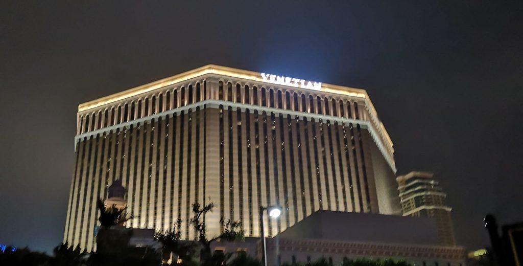 Venetian Casino bei Nacht außen