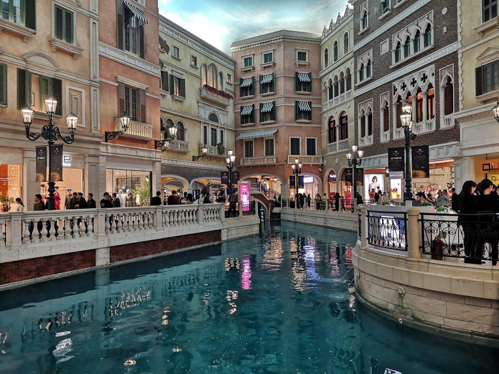 Venetian Casino Venedig Kanal Imitation Gondeln Shops