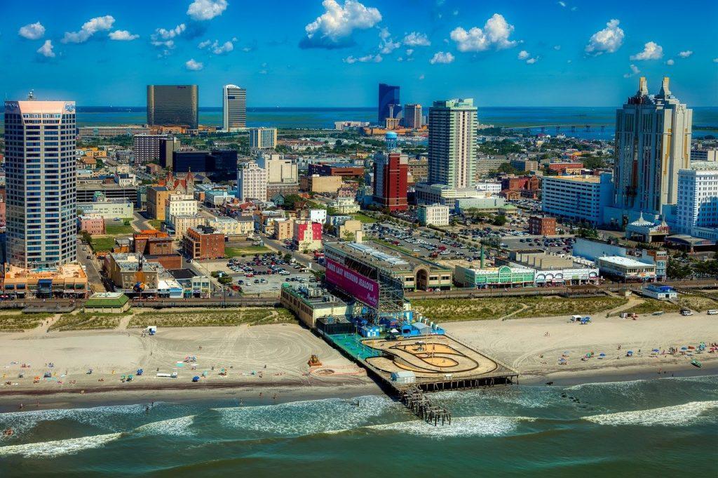 Atlantic City Küste Casinos Gebäude Strand Meer
