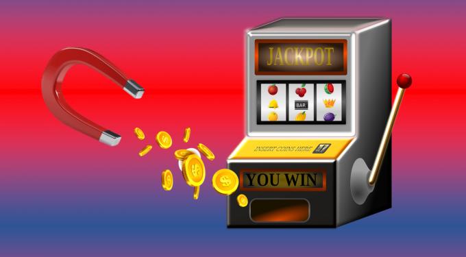 Magnet, Spielautomat, Münzen