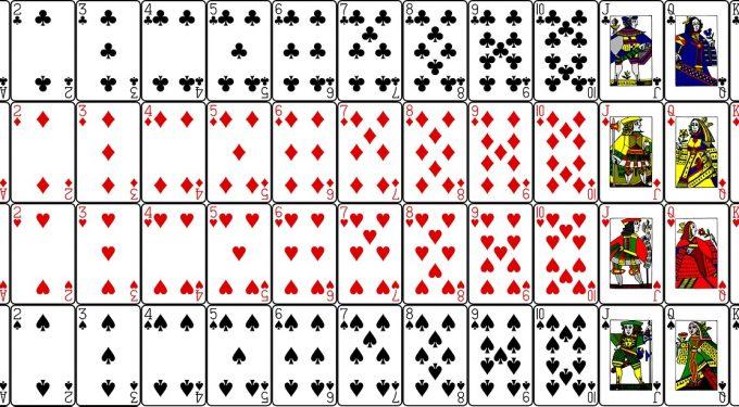 Kartendeck Französisches Blatt Spielkarten