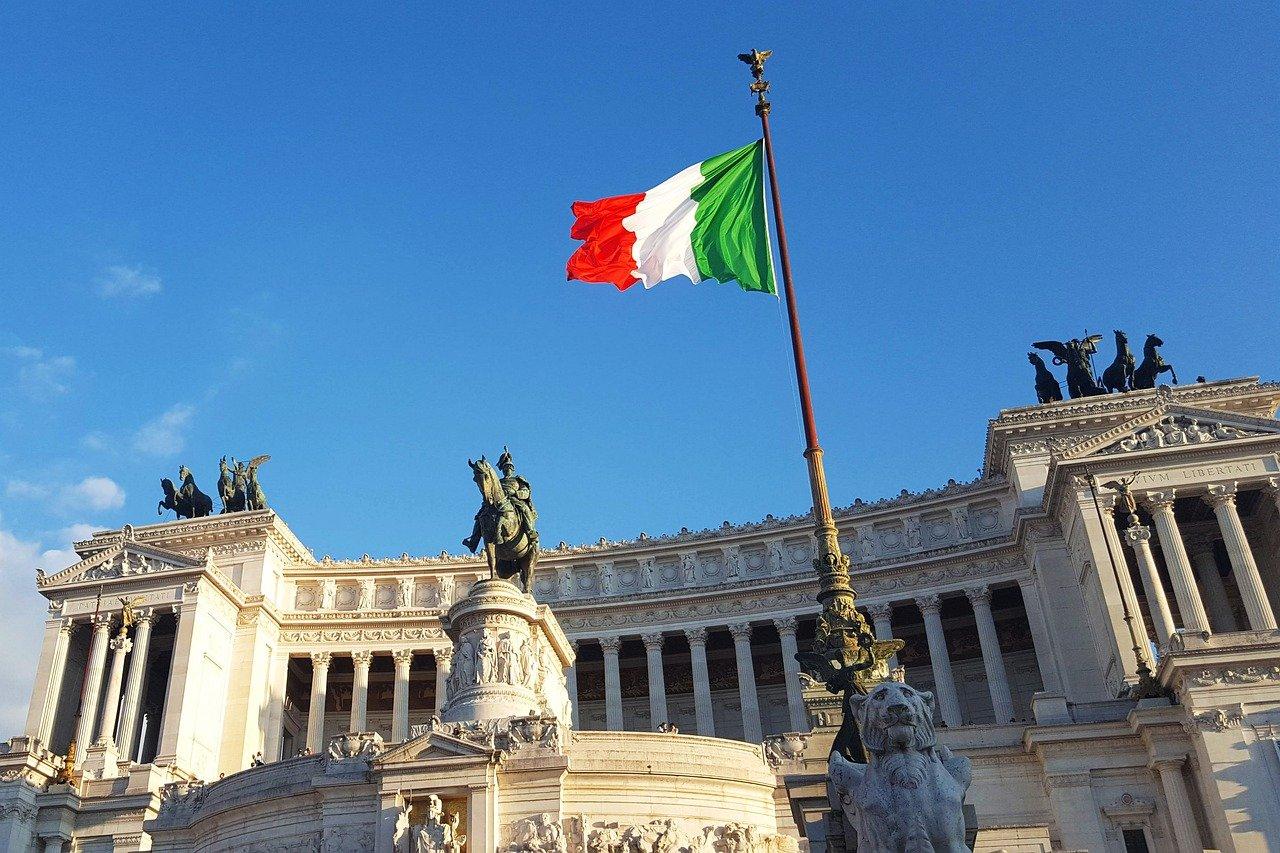 Italien Rom Flagge Vittorio Emanuele II