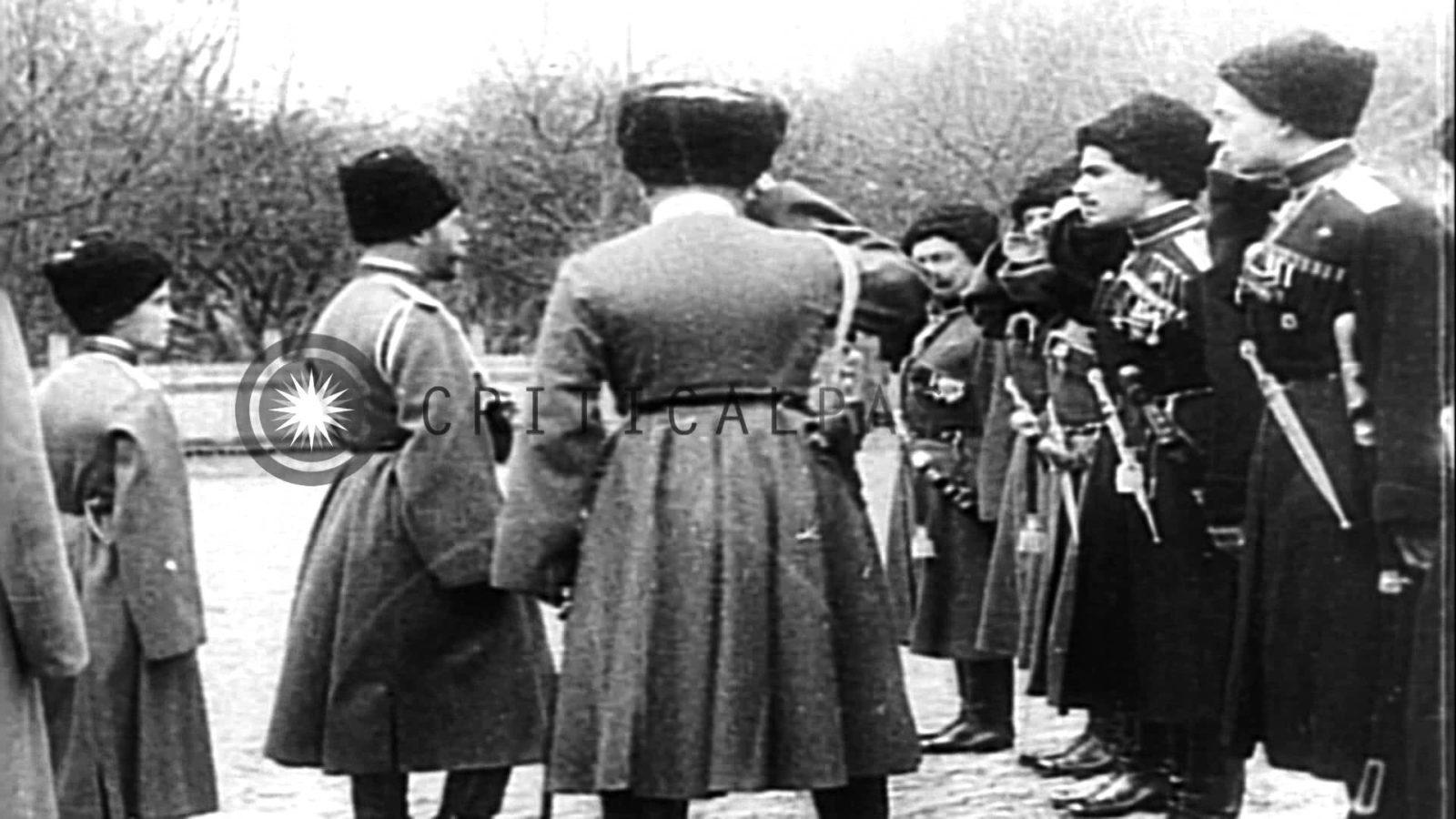 Soldaten der russischen Zar-Armee Czar Nicholas II