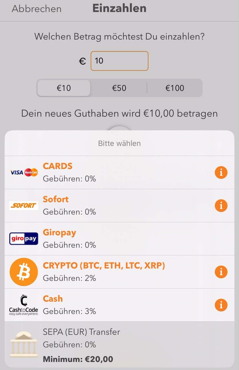 Online Casino Einzahlen