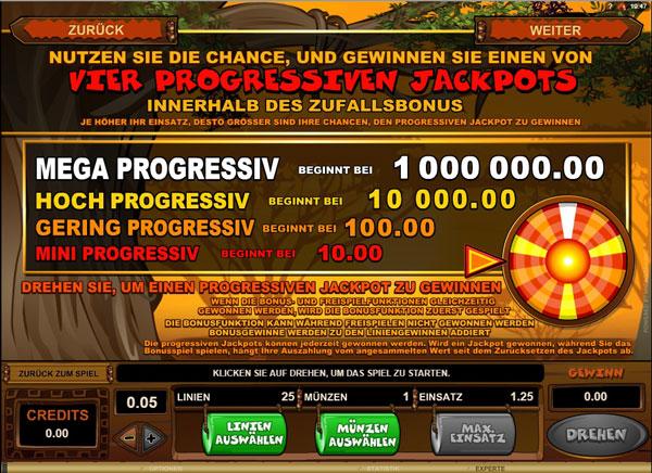 Mega Moolah – Jackpot-Slot im Internet spielen
