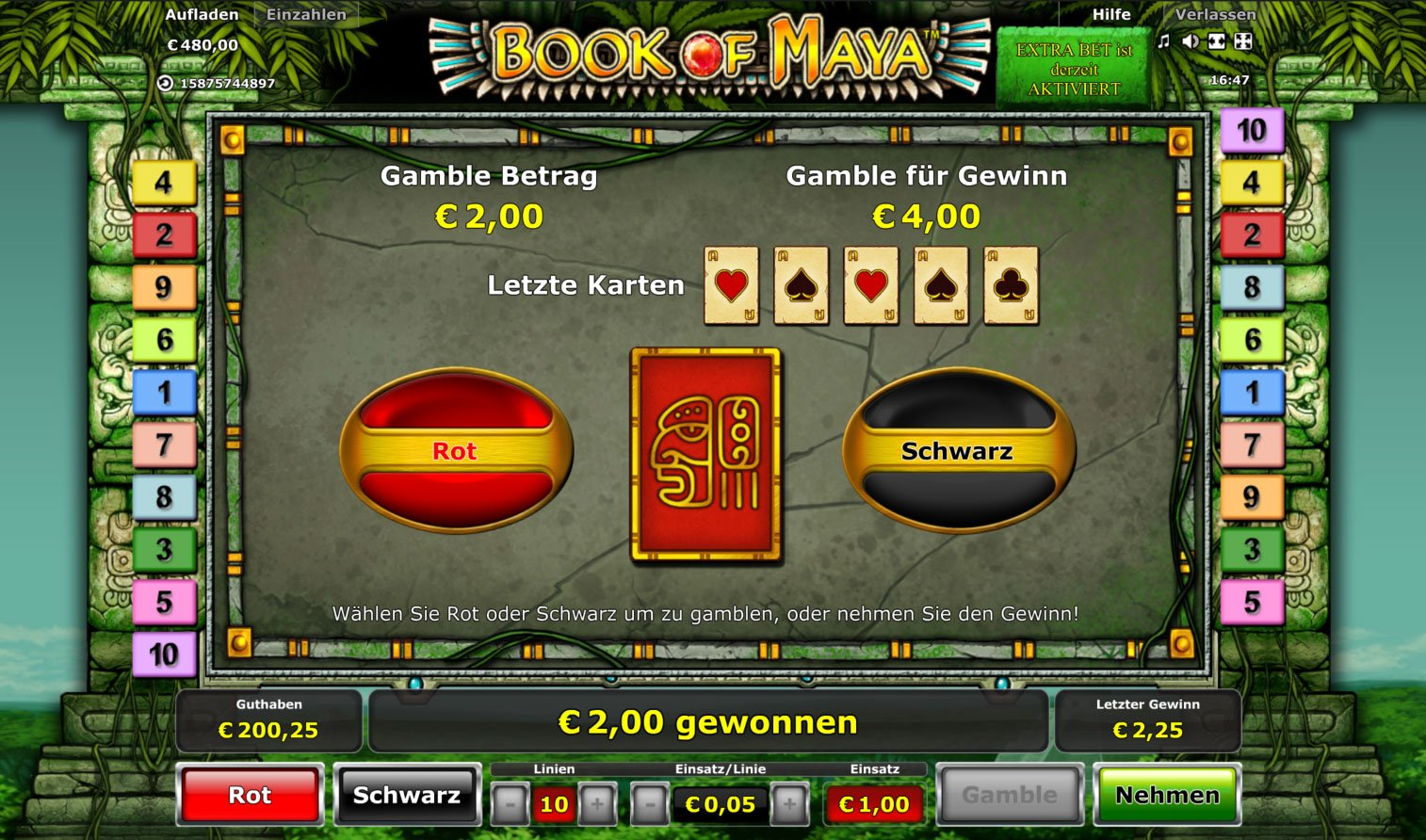 online casino review book of ra 2 euro