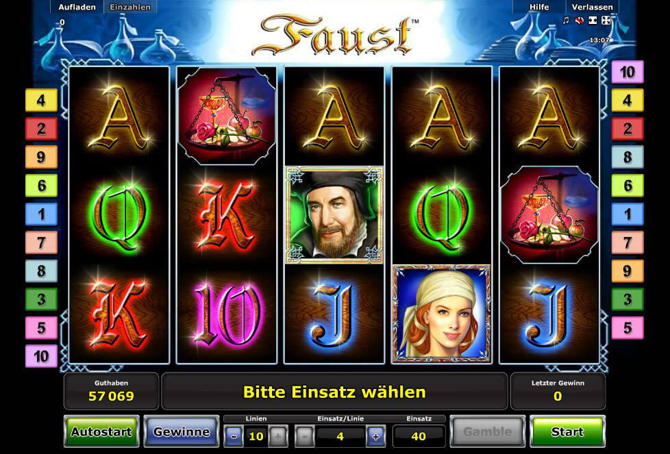 casino online book of ra faust