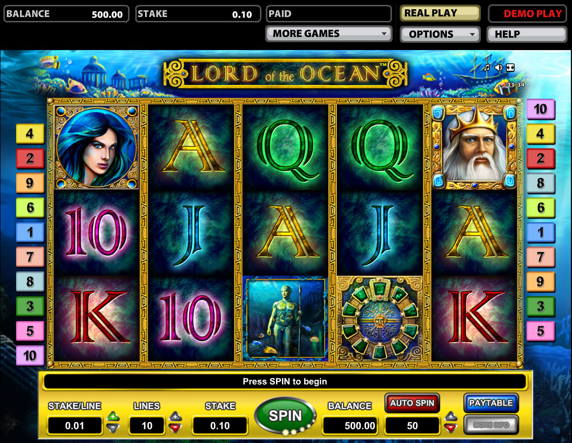 caesars casino online lord of ocean