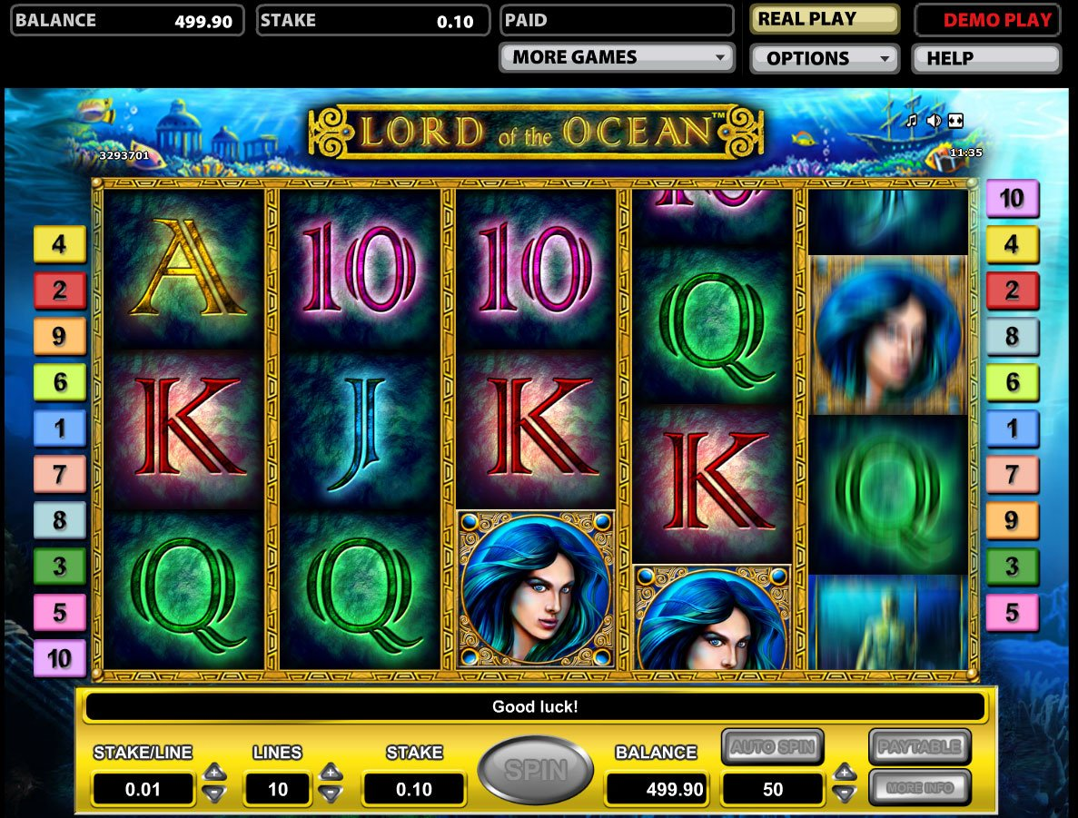 top online casino lord of ocean tricks