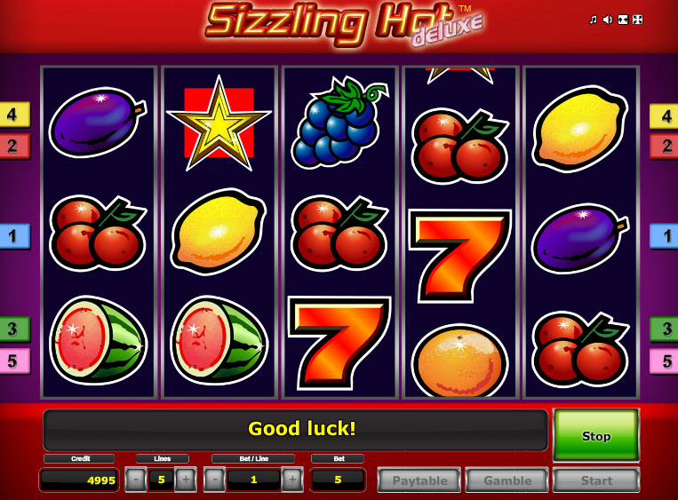 online casino anbieter sizzlin hot