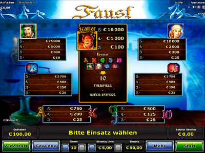 casino deutschland online faust slot machine