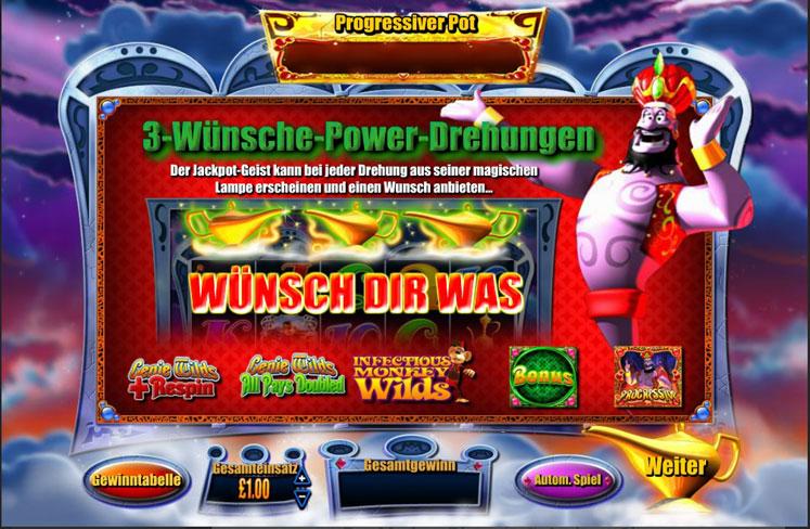 Genie Jackpots - Spiele Spielautomat
