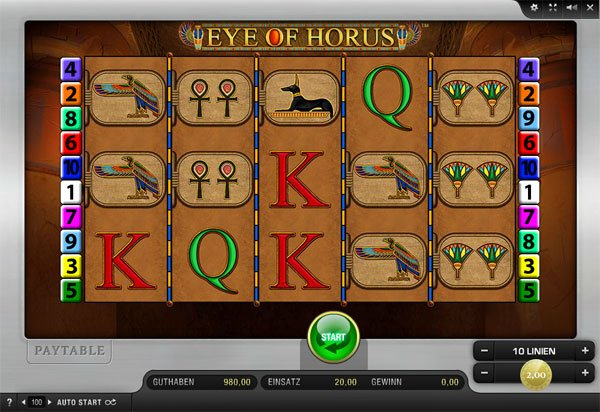 Eye of Horus online Spielautomat