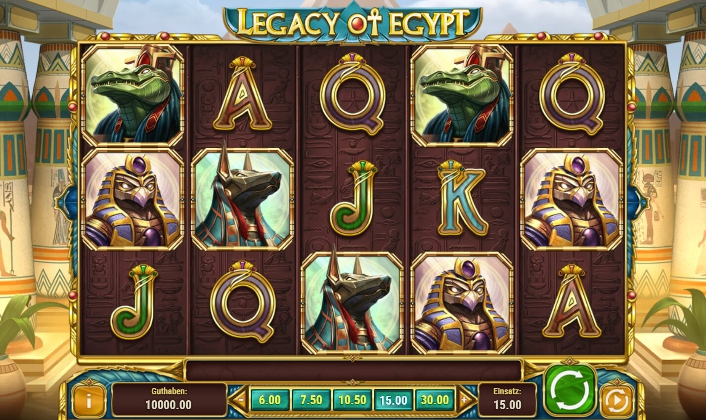 Online Spielautomat Legacy of Egypt