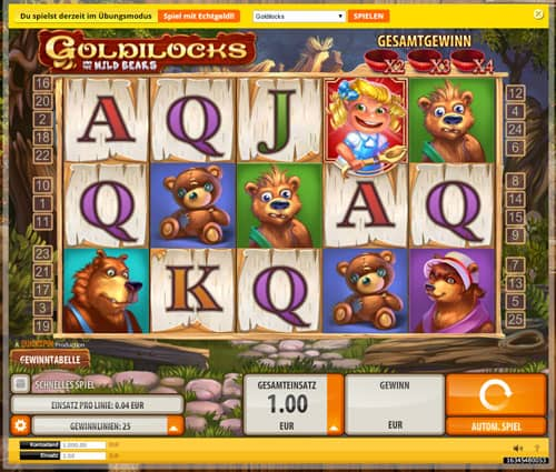 Goldilocks Spielautomat