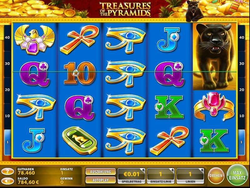 Treasures of the Pyramids Spielautomaten