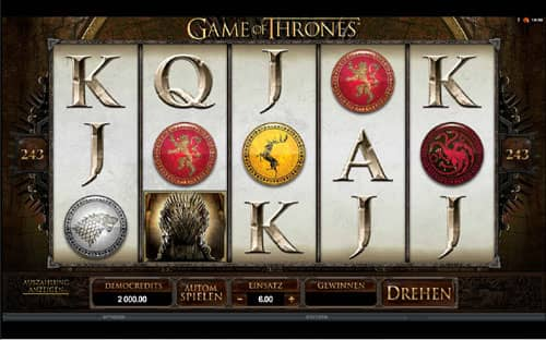 Game of Thrones Automatenspiel