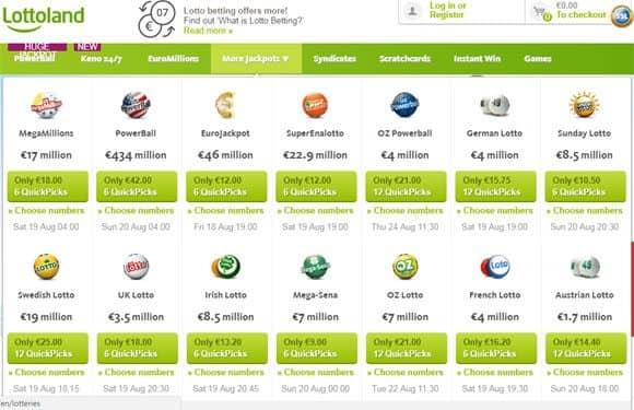 Lottoland Lotterien