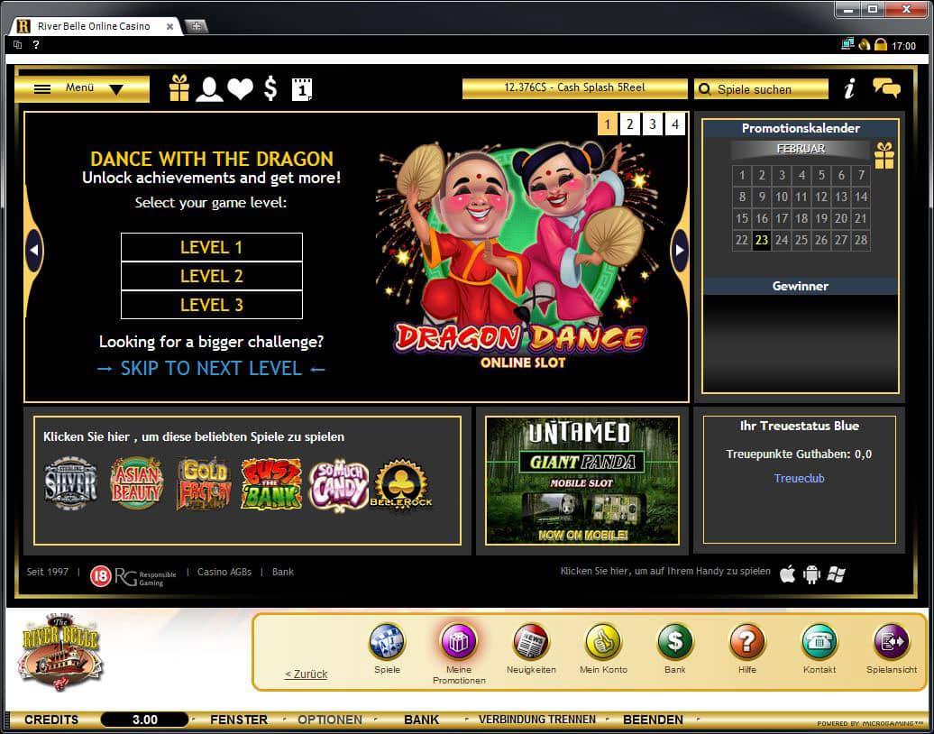 river belle casino online