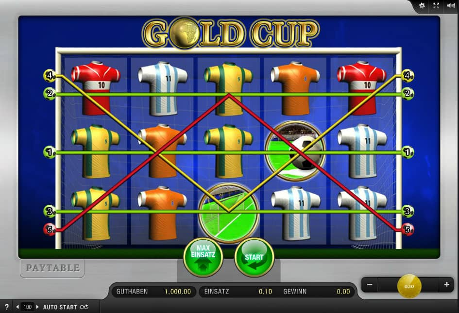 Gold Cup Automatenspiel