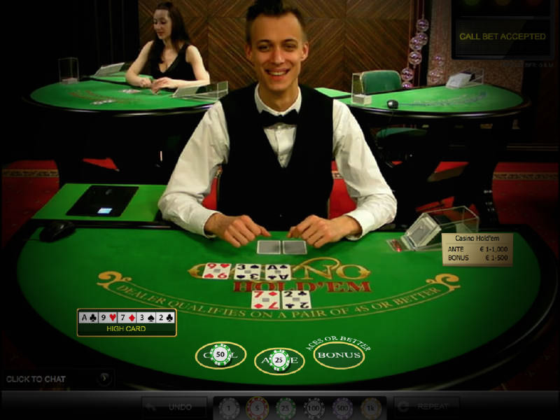 Live Dealer Casino Holdem - Spela Casino Holdem online
