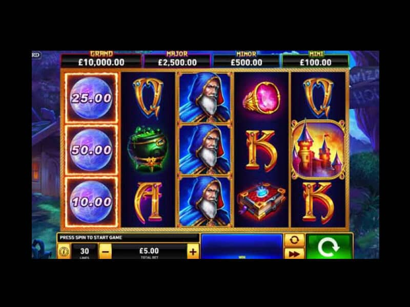 Screenshot Winner casino spielautomat Blue Wizard