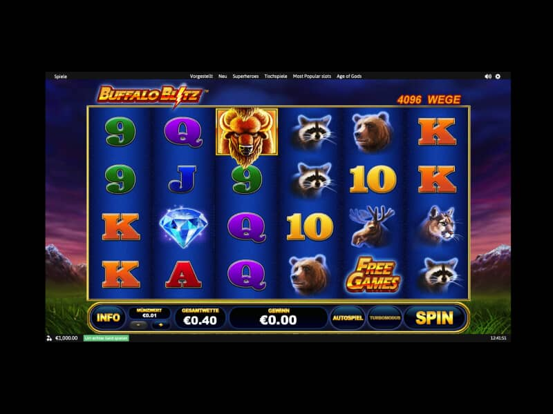 Screenshot Winner casino spielautomat Buffalo Blitz