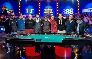 Die November Nine Pokerspieler