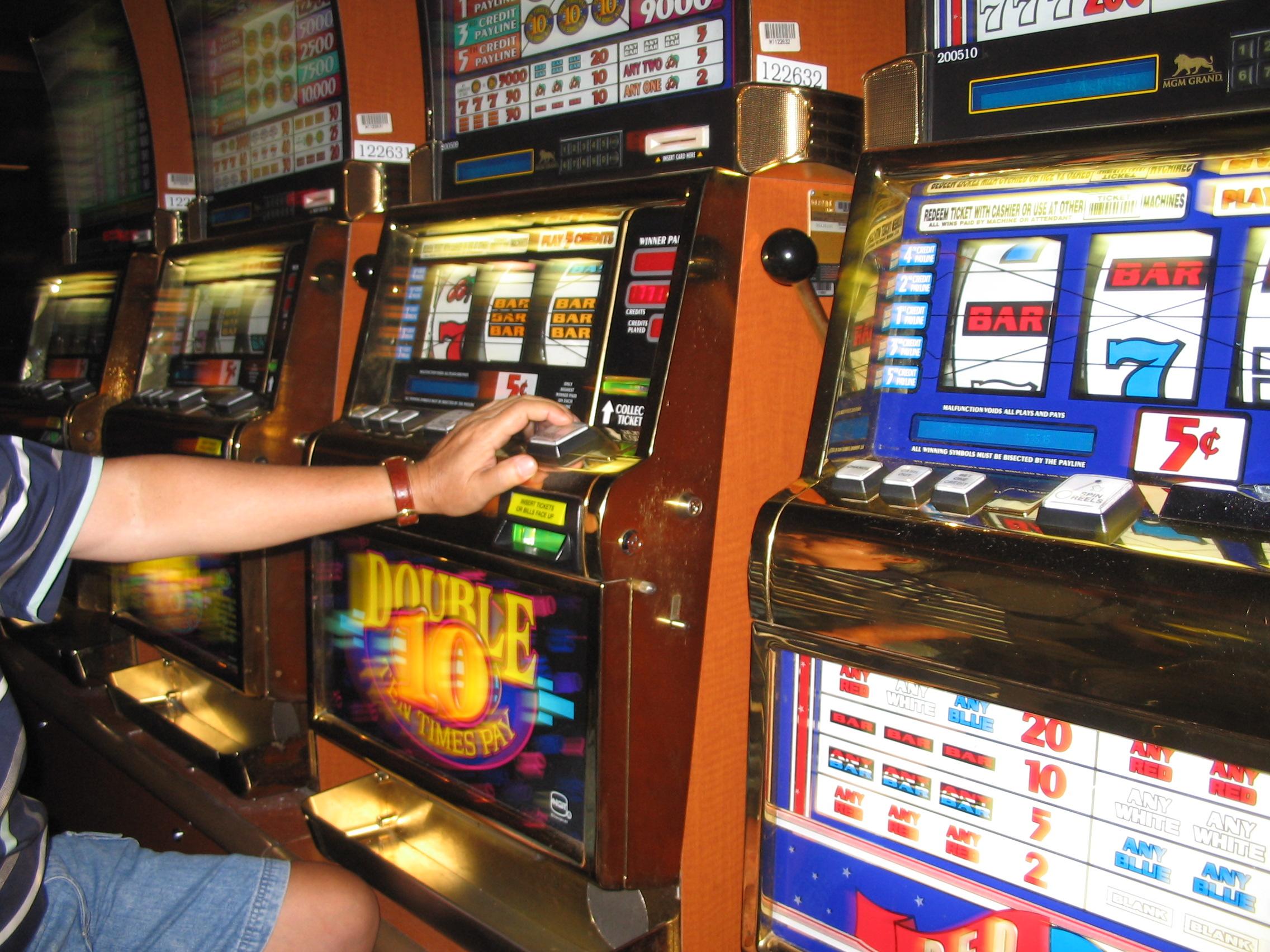Glücksspielautomaten in der Spielhalle