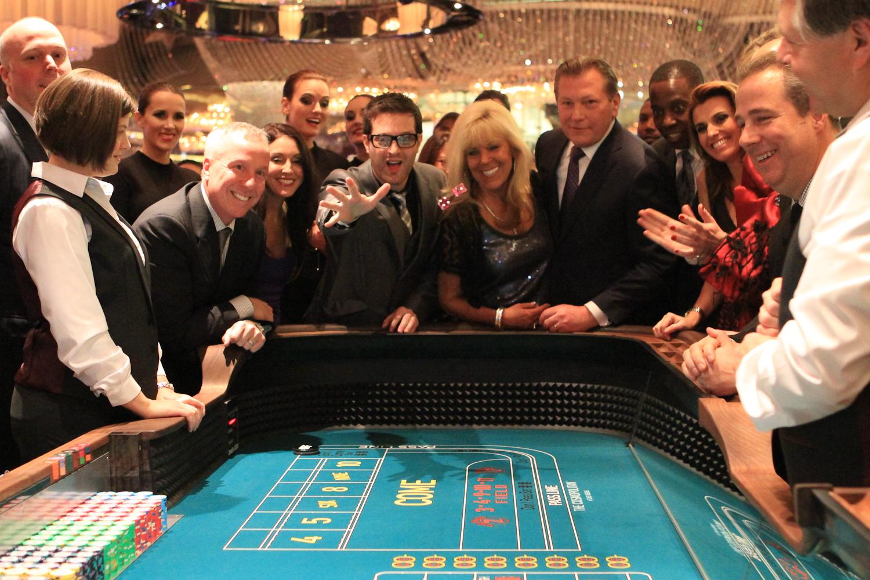 Spieltisch in einer Spielbank.