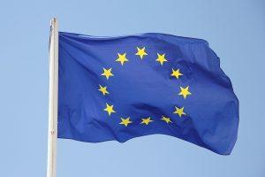 Das Bild zeigt die EU-Flagge.