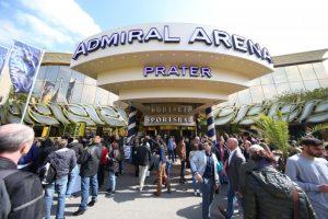 Das Bild zeigt die ADMIRAL Arena Prater in Wien.