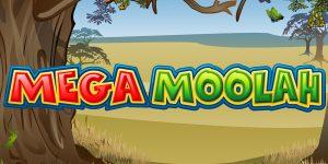 Das Bild zeigt das Mega Moolah Logo.