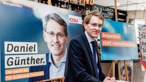 Daniel Günther von der CDU beim Wahlkampf