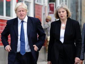 Boris Johnson und Theresa May
